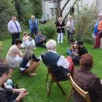 Zuhörer im Garten Foto: M.Stens